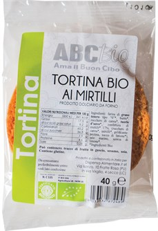 TORTINA AI MIRTILLI BIO G. 40