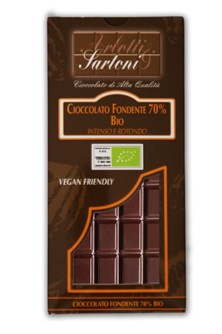 TAVOLETTA CIOCCOLATO FONDENTE 70% BIO FAIR TRADE   90 G